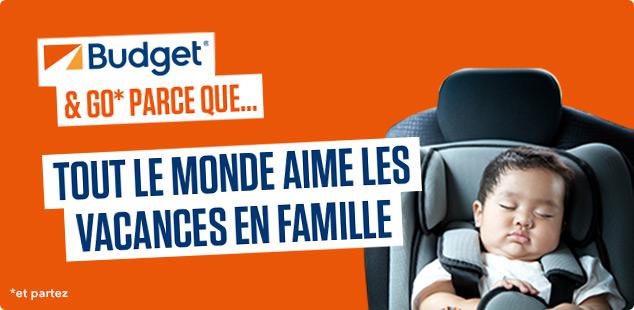 Voyagez en famille avec Budget