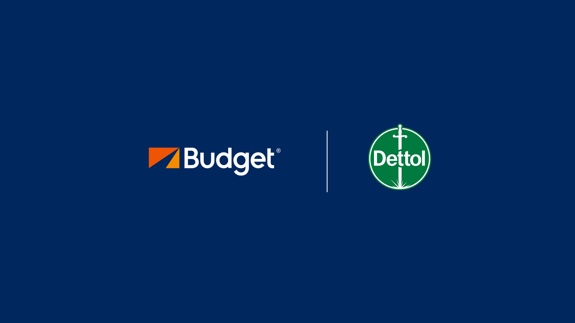 Budget car hire and Dettol in partnership