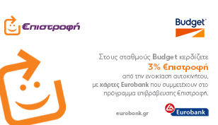Συνεργασία με το πρόγραμμα €πιστροφή της Eurobank