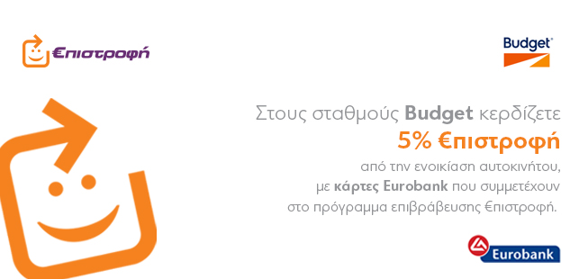 Budget επιστροφή Eurobank στην ενοικίαση αυτοκινήτου