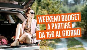 Weekend da 15€ al giorno!
